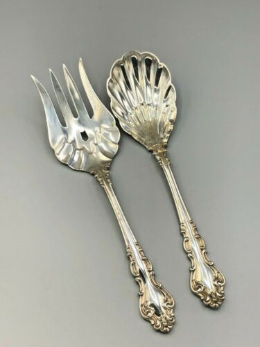 """Spanish Baroque by Reed & Barton Sterling Silver 2 piece Solid Salad Set 9.25"""""""