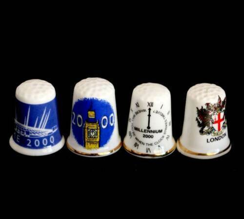 Vintage group of 4 London 2000 Millenium thimbles etc in great conditionOther Eras, Wars - 135