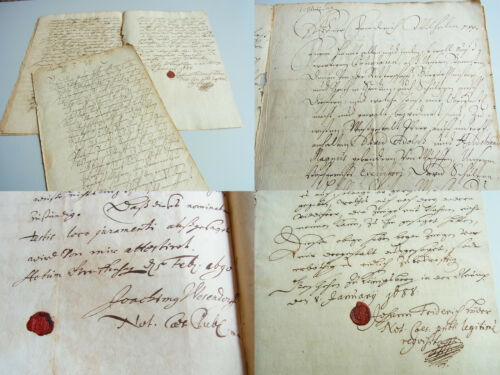 5 Documents 1688-90: Complain Hildebrand Magnus From Wulffen For Residents