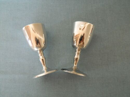Vintage 2 Shot Goblets Crusader Plate E.P.N.S.A. Silver Plated