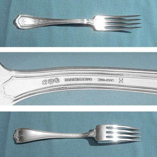 """REED & BARTON STERLING 7"""" FORK(S) ~ HEPPLEWHITE - CHASED ~ NO MONO"""
