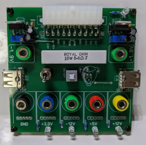 ATX power adaptor bench power supply and tester
