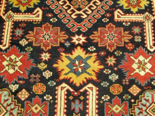 ANTIQUE CAUCASIAN AFSHAN KUBA RUG, 3.8 x 7.5 , VERY EARLY  &  HIGHLY COLLECTIBLE