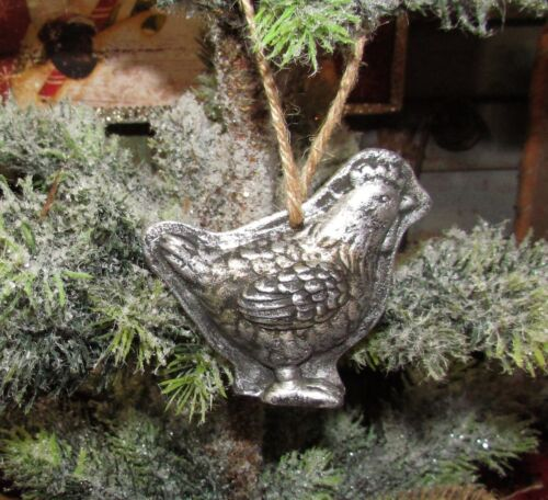 Primitive Antique Vtg Style Christmas Tree Chicken Resin Chocolate Mold Ornament