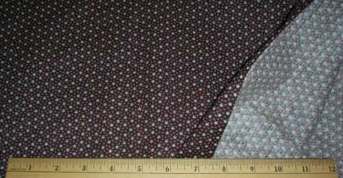 """Antique 1800's 19c Gingham Quilt Dress Apron Weight Cotton Sewing Fabric """"Star"""""""