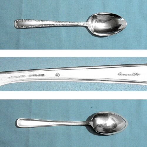 """GORHAM STERLING 6 3/4"""" PLACE / OVAL SOUP SPOON(S) ~ CAMELLIA ~ NO MONO"""