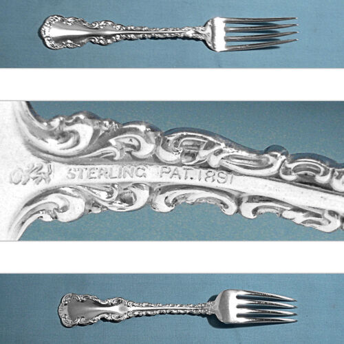 """WHITING MFG STERLING 6 7/8"""" FORK(S) ~ LOUIS XV ~ NO MONO"""