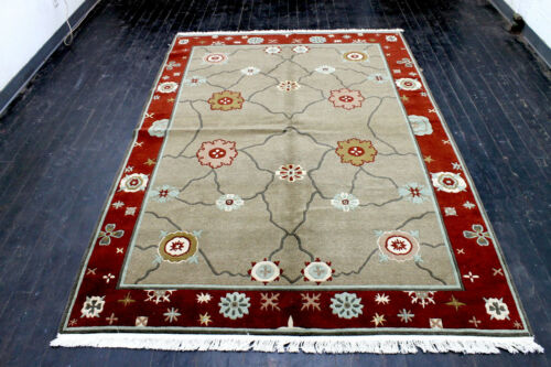 9X6 MAGNIFICENT NEW 200+KPSI HAND KNOTTED GHAZNI WOOL CONTEMPORARY TIBETAN RUG