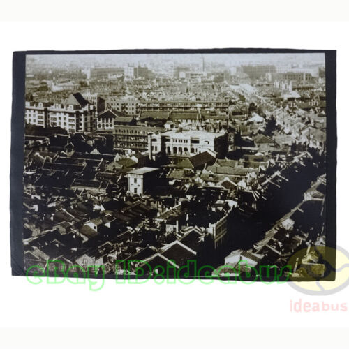 """Matted 8""""x6""""old photograph Overlook The Hongkou District of  Shanghai 1940s"""