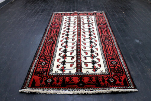 4X7 1960's MAGNIFICENT MINT AND SUPERB HAND KNOTTED MALAYERR ORIENTAL WOOL RUG