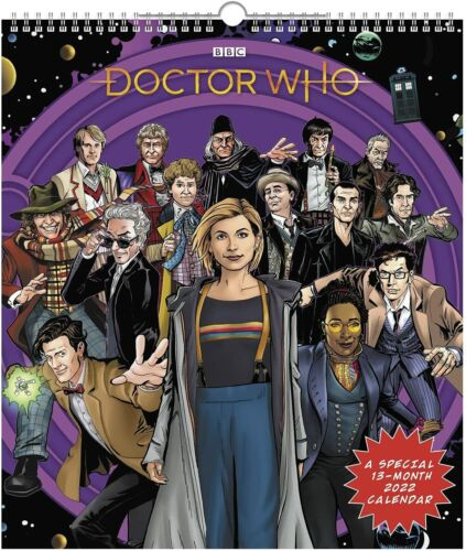 Doctor Who - 2022 Deluxe Calendrier Mural - Tout Neuf - DDSE65