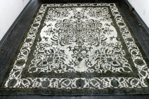 10X12 1930's AUTHENTIC HAND KNOTTED 90+YEARS ANTIQUE WOOL TABRIZZ DISTRESSED RUG
