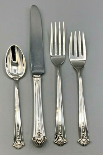 Severn/ Worthington by S Kirk & Son Sterling 4 Piece Place Setting, french blade