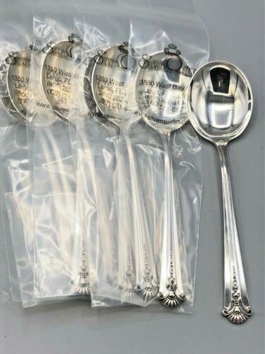 Severn/ Worthington by S Kirk & Son Sterling Silver set of 8 Cream Soup Spoons