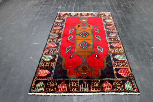 5X3 BREATHTAKING NEW HIGH QUALITY HAND KNOTTED HI KPSI WOOL BALOUCH AFGHAN RUG