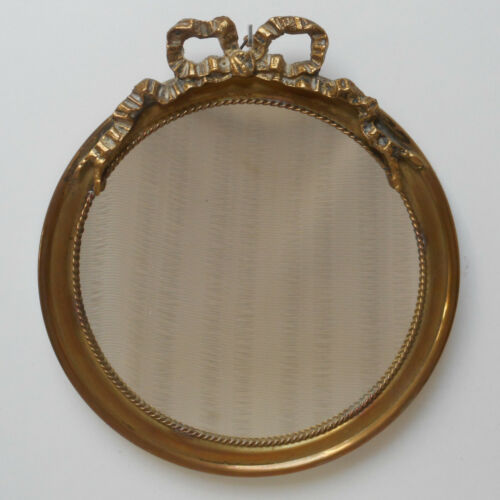 VINTAGE FRENCH LOUIS XVI STYLE GILT WALL MIRROR HOLLYWOOD REGENCY SHABBY CHIC