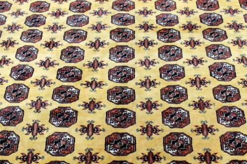 10X14 1940's FINE ANTIQUE HAND KNOTTED VEGETABLE DYED BOKHARA WOOL ORIENTAL RUG