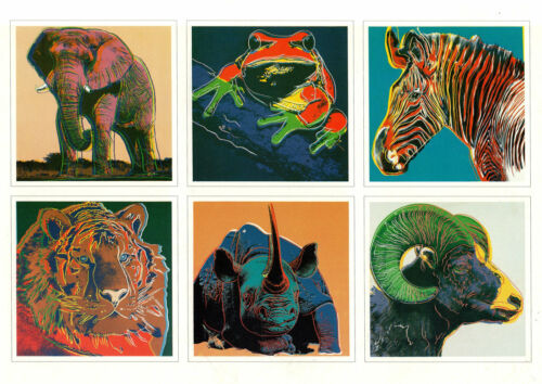 ANDY WARHOL Endangered Species Small Art Card 6-1/2 x 9-1/4