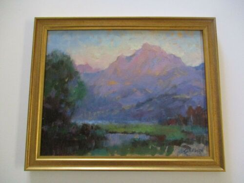 CATHERINE GRAWIN PLEIN AIR PAINTING AMERICAN CA LISTED IMPRESSIONIST LANDSCAPE
