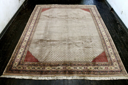 8X11 EXQUISITE VINTAGE HAND KNOTTED VEGETABLE DYED SARABAND ORIENTAL WOOL RUG
