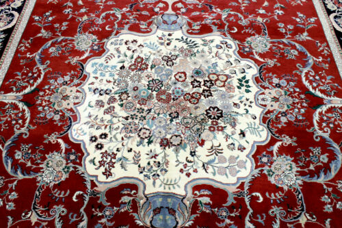 8X10 1960's FINE HAND KNOTTED 300+KPSI VEGETABLE DYE WOOL TABRIZZ ORIENTAL RUG