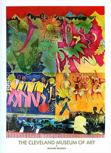 Romare Bearden Wrapping It Up Lafayette Harlem Musicans Poster 36 x 26