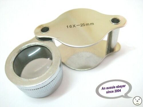Quality 16 x 25 mm Jeweler & collector's LOUPE - 20% Off local Fast shipping