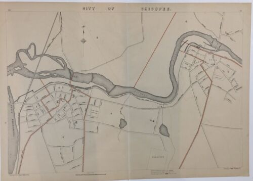 1891 Original Map City of Chicopee Mass MA Old Vintage Massachusetts River