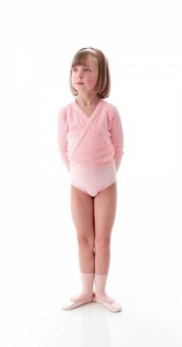 Girls Pale Pink Ballet Dance Crossover Cardigan All Ages By Katz Dancewear