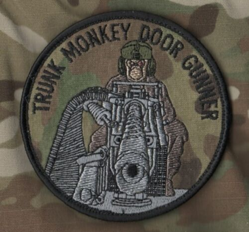 Us Afsoc Jtf Black Hawk Helicopter Uh-60 Velkrö Patch: Trunk Monkey Door Gunner
