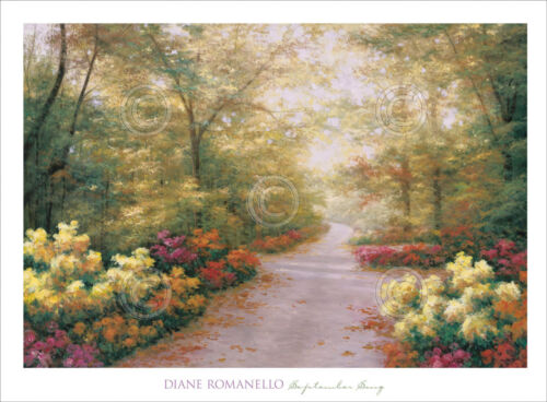 September Song by Diane Romanello - Country Landscape Art Print Poster 28x38