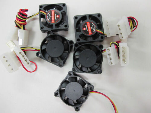 5x 40mm Fan 10mm width with 3pin Monitored & 4pin molex passthrough *BEST PRICE*