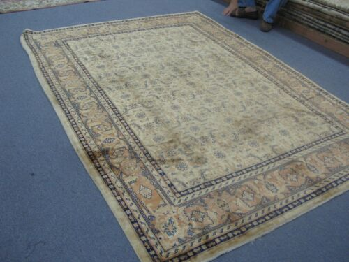 Semi Antique Bulgarian Sarouk Area Rug Herati Hand Knotted Wool 6' x 9'9 Allover