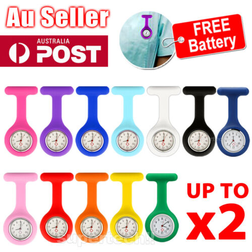 Silicone Nurse Brooch Tunic Fob Watch Nursing Nurses Pendant Pocket Watch <br/> PREMIUM QUALITY✔BEWARE OF LOW PRICE ITEMS✔ 11 COLOUR✔