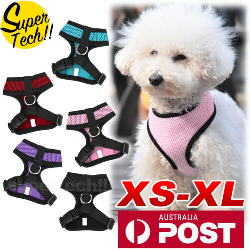 Pet Dog Cat Puppy Soft Leash VEST Mesh Breathe Adjustable Harness Braces Clothes