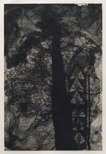 Louise Nevelson, Essences 14,  1977, signed soft ground etching