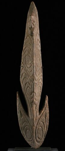 papuan food hook,sepik figure, oceania, pacific art