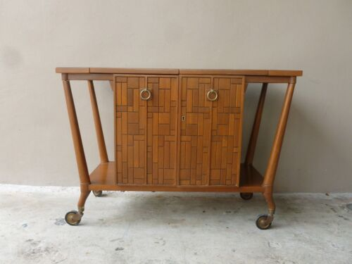 MID CENTURY MODERN BERT ENGLAND BAR CART FOR THE JOHNSON FURNITURE COMPANY