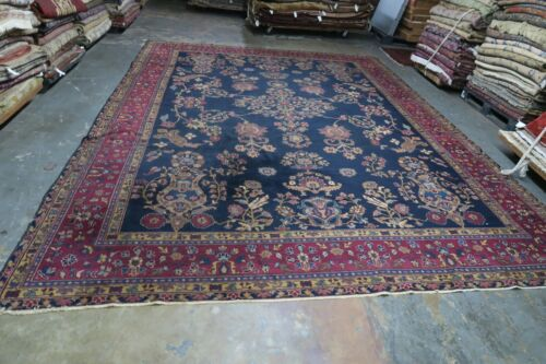 Antique Turkish Oushak or Indo Agra Hand Knotted Wool Rug 11'x15' DISTRESSED