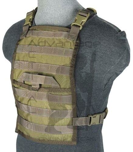 BAE Systems ECLiPSE Foldable Chest Rig MOLLE Platform - MJK khakiPouches - 158437