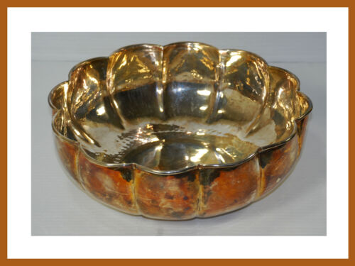 Padova G. B. Sport Silver Plated Hand Hammered Made in Italy Serving Bowl