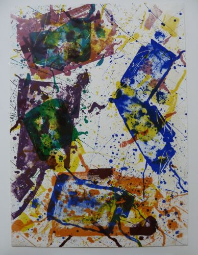 Abstract Offset Color Lithograph by Sam Francis