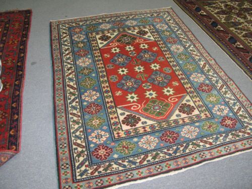 Vintage Russian Kuba Rug 4'-0 x 5'-6 Hand Knotted Wool