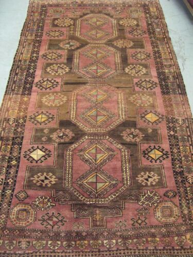 Semi Antique Caucasian Shirvan Rug Hand Knotted Wool 5' x 8'-8