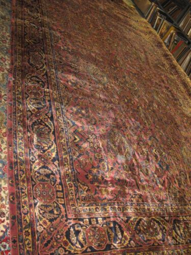 Antique Indo Sarouk Farahan Persian Hand Knotted Wool Long Rug 11'8 x 21'6