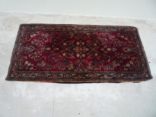 1920's  SAROUK ORIENTAL RUG APPROX  4.75 FT  X  2 FT 5""""