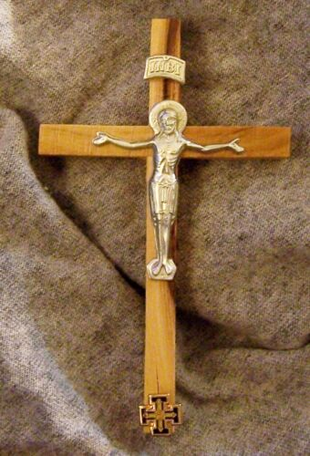 Medieval Holy Land Crusades Christian Knights Olive Wood Crucifix Cross SymbolReenactment & Reproductions - 156374