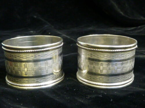 Pair of American Coin Silver Napkin Rings - Monogrammed M.S.C. & G.S.C.