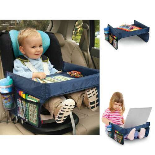 Portable Safety Kids Car Seat Travel Tray Activity Drawing Board Table
