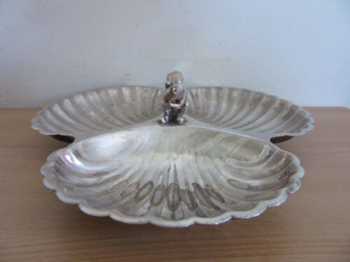 """Pilgrim Silver Plate Squirrel Sectioned Dish 10.5"""""""